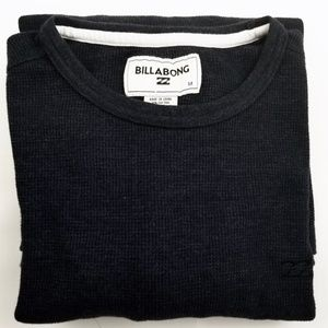 BILLABONG Navy Blue Long Sleeve Thermal Shirt